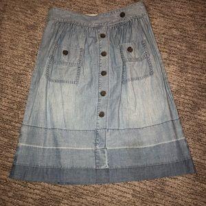 Jcrew denim button down Aline skirt
